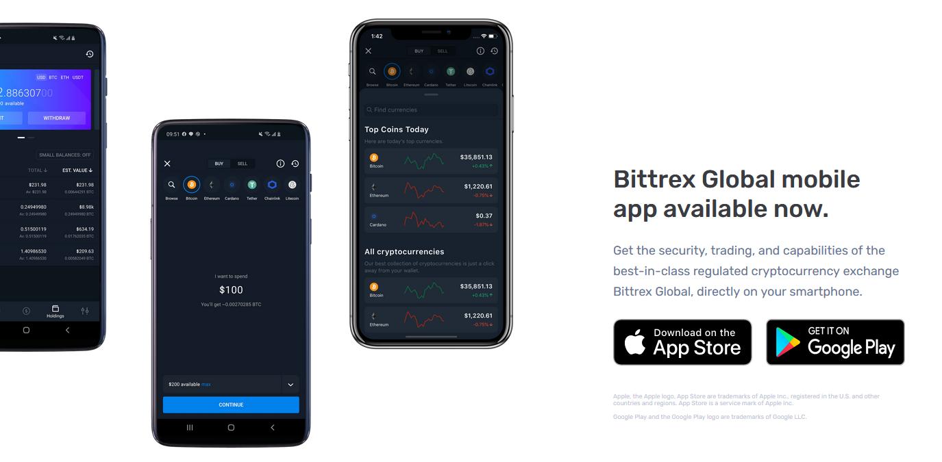 application Bittrex